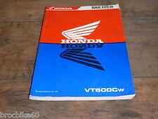 MANUEL REVUE TECHNIQUE D ATELIER HONDA 600 SHADOW 1998-> VT600C VTC VT C