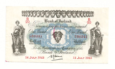 1943 Bank of Ireland One Pound Bank Note
