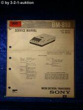 Sony Service Manual BM 810 (#0900)