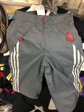 ADIDAS TRACK TROUSERS 3/4 CARGO GREY/WHITE AT £10 STHREE STRIPE 24 26 28inc