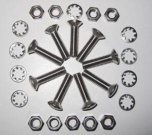 """Steering Wheel Boss Fit Kit 1"""" Moto Lita (9 larger head screws)- Stainless Steel"""