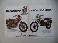 advertising Pubblicità 1983 MOTO CAGIVA SST 250 350/ALA BLU