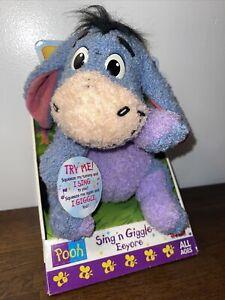 NEW Winnie The Pooh EEYORE Sing N Giggle Disney Toy Fisher Price