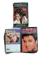 Lot of 2 Elvis Presley Cassettes Love Me Tender and Christmas To  by Jordanaires