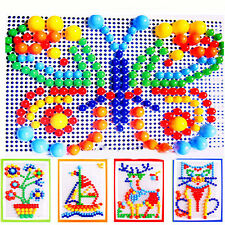 Children Puzzle Peg Board With 296 Pegs for Kids Early Educational Toys