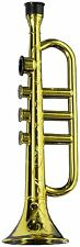 Plastic Gold Brass Colored Trumpet Kazoo Horn Novelty Costume Accessory New