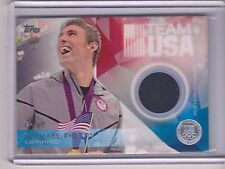 RARE 2016 TOPPS OLYMPIC MICHAEL PHELPS SILVER RELIC CARD 48/50 ~ SWIMMING CAP
