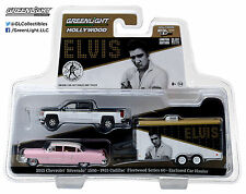 1:64 GreenLight *HITCH & TOW* ELVIS Silverado Cadillac & Enclosed Trailer *NIP*