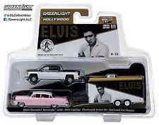 1:64 GreenLight *Hitch & Tow* Elvis Silverado Cadillac & Enclosed Trailer *Nip*