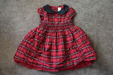 Gymboree Red Black Plaid Holiday Traditions Dress 4T Silk Tulle Smock Christmas