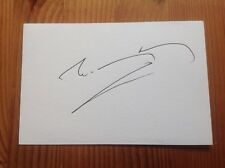 Doctor Who Autograph Terry Molloy Hand Signed Index Card Dr Who - Davros Daleks