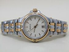 Vintage Gucci 9040l Women's Stainless Steel Gold Plated Accent Quartz Watch