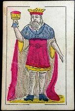 1868 King of Cups Artisan Colour Spanish Naipes Playing Cards Single Cadiz +COA