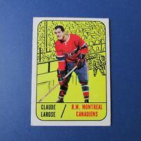 CLAUDE LAROSE  1967-68  Topps  # 4   Montreal Canadiens  1968 1967 67-68   EX