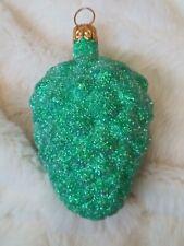 1996 #9651 Patricia Breen Walk in the Woods Green Glitter Pine Cone Ornament #1