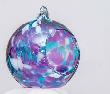 Milford Violet Hanging Night Tea Light Handmade Friendship Glass Globe Gift