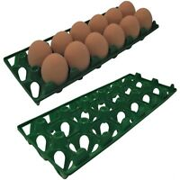 12 RITE FARM PRODUCTS 12 EGG POLY CHICKEN TRAYS SHIPPING CARTON POULTRY FLAT