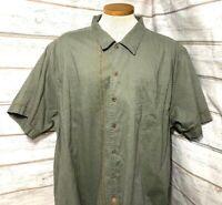 Life Is Good Men's Linen Blend Cuban Embroidered Shirt Men's Size XL EUC 2-2