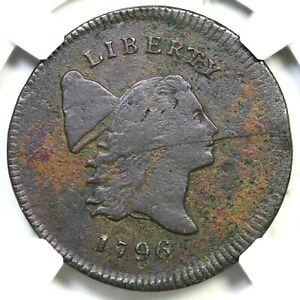 1796 C-1 R-2 NGC VF Details Liberty Cap Half Cent Coin 1/2c