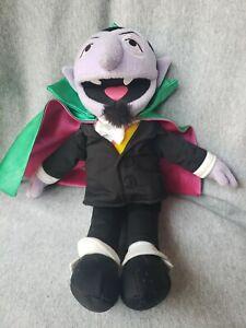 GUND Sesame Street Count Von Count 2007 Plush Vampire Stuffed Animal