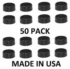 Round Plastic Fence Post BLACK Caps 3.5 (3 1/2) Pressure Treated Wood 50-PK