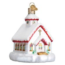 """Country Church"" (20095) Old World Christmas Ornament w/OWC Box"