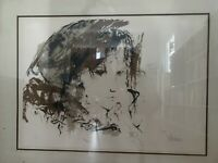 """Gino Hollander """"Siri""""/ Very Rare Large Limited Edition Lithograph/ Signed/1978"""