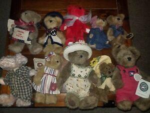 Boyds Bears Plush Lot - JB Bean - 10 Pcs.