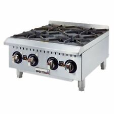 Winco Ghp-4, 24-Inch 4-Burner Spectrum Gas Hot Plate, Nsf-4, Etl, cEtlus