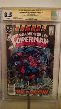 Adventures Of Superman Annual #1 CGC 8.5 SIGNED by DAN JURGENS & JIM STARLIN