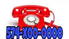 SIM Card with phone number Great Vanity Premium Easy Phone Number (574)X00-0000
