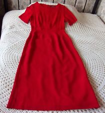 Neat vintage red party dress by DEBUT Size 10-12