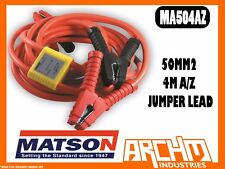 MATSON MA504AZ 50MM2 4M A/Z JUMPER LEAD ANTI ZAP -  BATTERY AMP CLAMPS INSULATED