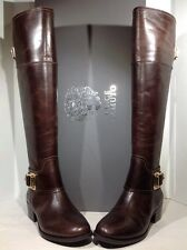 Vince Camuto Women's Size 6.5 Basira Brown Leather Over the Knee Boots H1-086