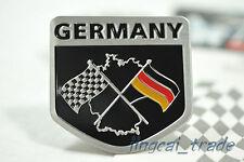 Germany Chequered Flag Shield Shape Aluminium Decal Badge Emblem VW Audi BMW Car