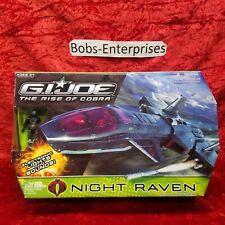 GI JOE Rise of the Cobra NIGHT RAVEN w/ AIR VIPER FIGURE Lights & Sound JO-12