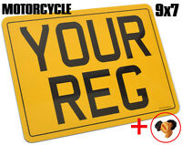 PREMIUM QUALITY MOTORCYCLE REAR BIKE NUMBER PLATE LEGAL 9x7 FIXINGS INCLUDED