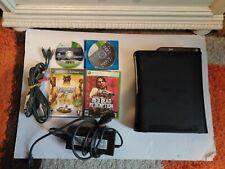 Microsoft Xbox 360 120GB Console - Black, Includes 4 Games and Cords
