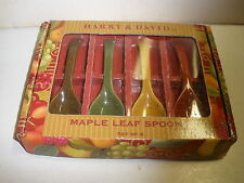 New Harry & David Maple Leaf Spoons set of 4