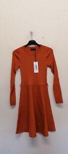 Karen millen Full Skirted Belted Knit Dress size S {B54}