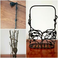 Vintage Wrought Iron Candle Snuffer, Basket & Glass