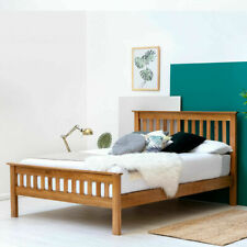 Farmhouse Shaker Style Solid Oak Wooden Bed Frame 4FT6 Double or 5FT King Size