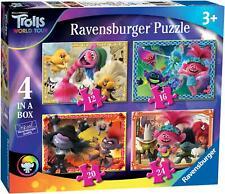 Ravensburger TROLLS 2 WORLD TOUR 4 IN BOX JIGSAW PUZZLES Toys Games BNIP