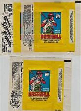 3 Different 1979 Topps Baseball Wrappers -- Checklist, Card Locker, Gum...  Nice
