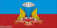 "CANADA CANADIAN AIRBORNE FLAG ARMY 5"" HELMET BUMPER DECAL STICKER USA MADE"