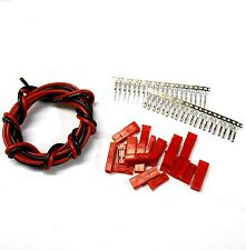 CL9MF10 Compatible JST Male Female Connectors x 10 & 1m 18AWG Black Red 6v