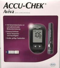 ACCU CHEK Aviva Blutzucker-Messgerät Set mg/dL inkl. Teststreifen, Lanzetten