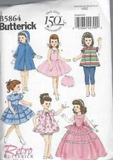 """Patron de couture BUTTERICK 18 """" poupée vêtements rétro 1956 ROBE MANTEAU b5864"""