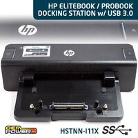 HP 8470p 8470w 8540w 8570w 8740w 8760w 8770w EliteBook Docking Station w/USB 3.0