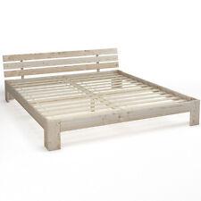 Legno letto matrimoniale 180 x 200 cm telaio del letto a doghe di legno natura